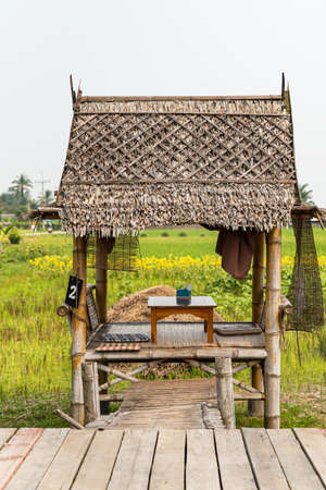 Vacation pavilions in rural northern Thailand 版權商用圖片