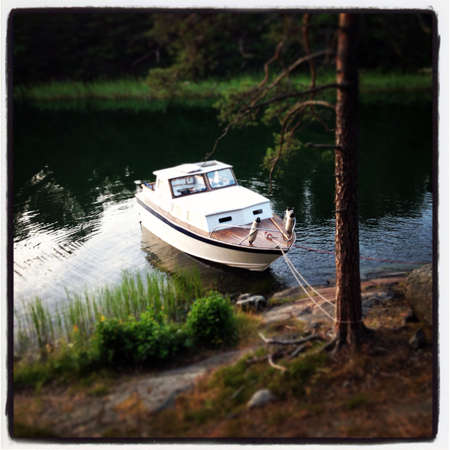 overnight stay: Overnight stay on boat  Stock Photo