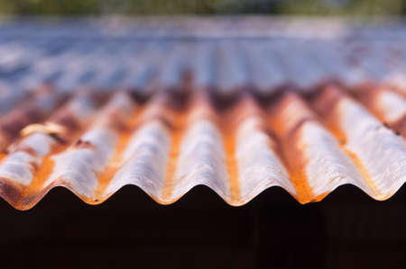 zinc roof with rust photo