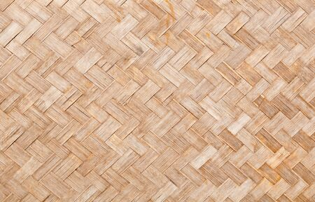native thai style of bamboo wall texture decoration photo