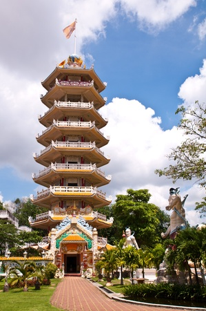 chinese temple tower photo