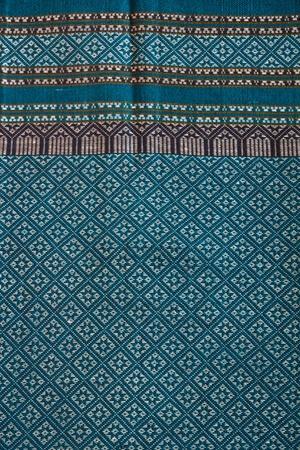 thai silk: closeup pattern texture of general traditional thai style native handmade  fabric weave