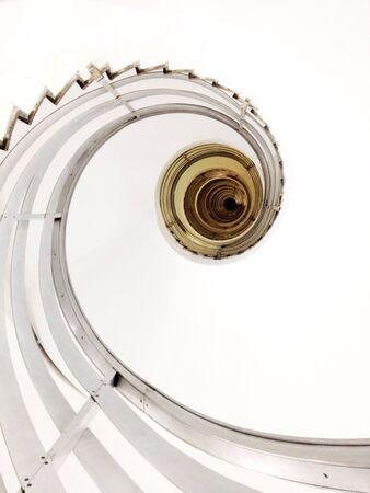 Spiral staircase creates abstract design