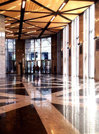 Corporate building entrance lobby