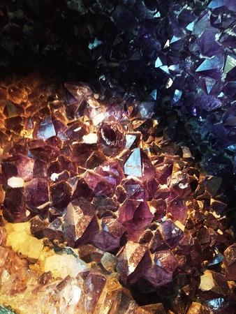 Amethyst crystal Stock Photo