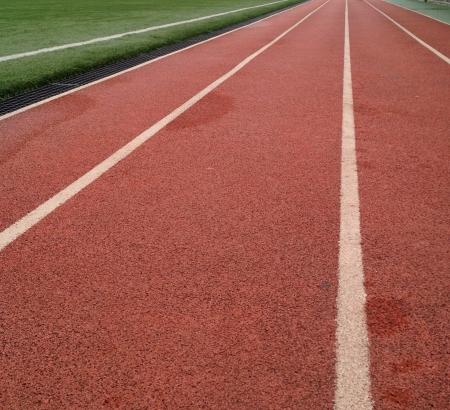 Athletics running track Stock Photo