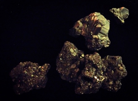 Pyrite crystals Stock Photo