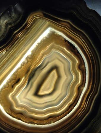 Brightly lit agate stone