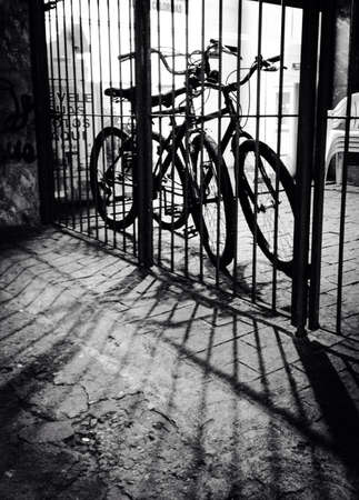 grid: Parked bikes