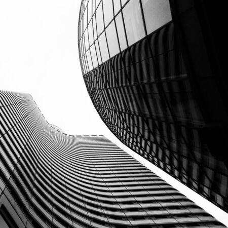 Highrise buildings form abstract composition