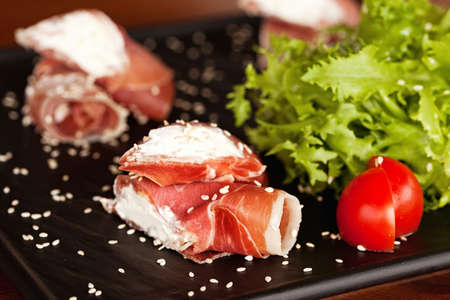 Cordon bleu speciality (rolls with ham and creamy cheese)