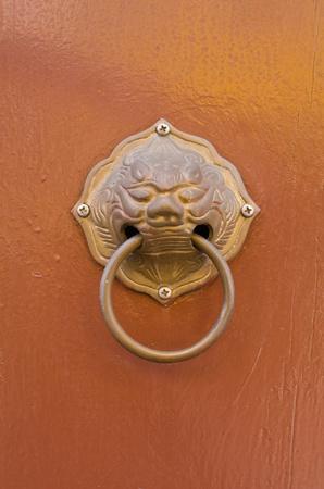 Doorknob on background photo