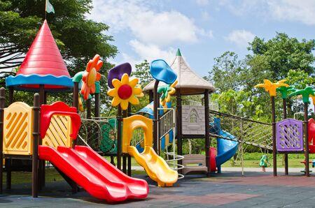 Colorful Children Playground Equipment Stock Photo - 15031616