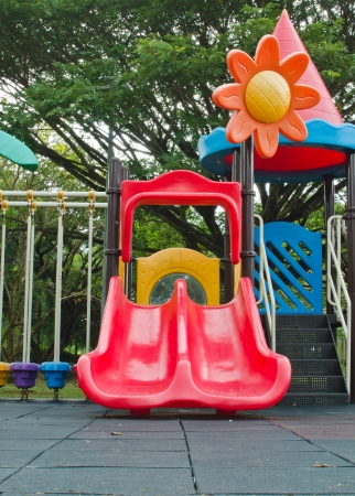 Colorful Children Playground Equipment Red