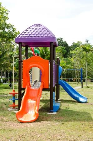 Children playground with white sky  Stock Photo - 17298058