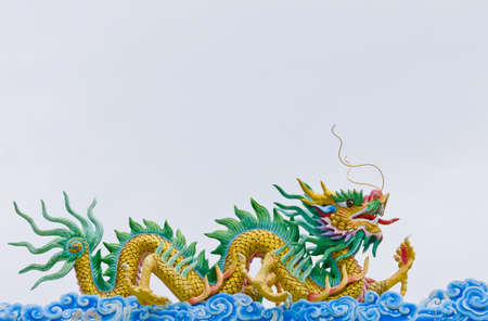 chinese temple: dragon on roof