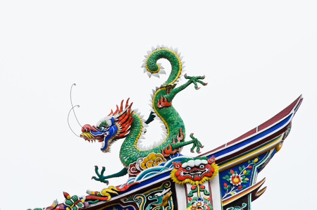 dragon on white background photo