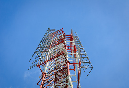 telephonic: Telecommunication mast  tower with blue sky