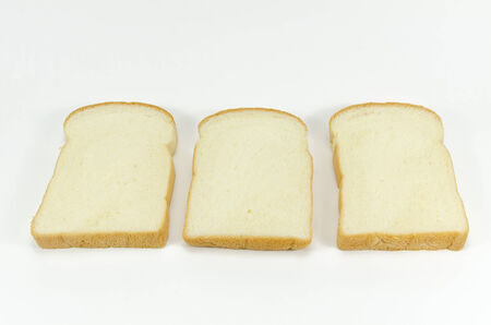 breads on white background