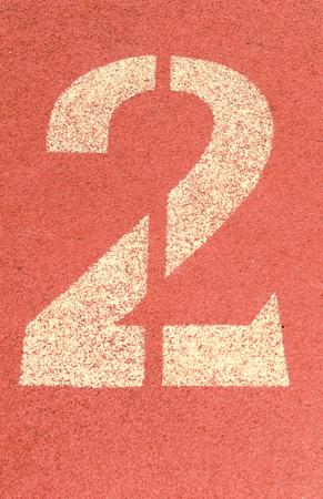 one lane: running track number vintage background