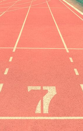 running track number vintage background
