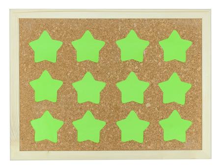 green stars on cork notice board  photo
