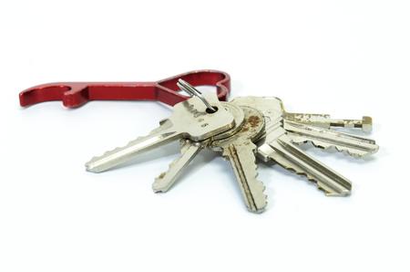 tresspass: keychains on white background