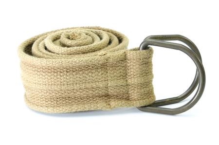 fabric strap belt isolated on white background Stock Photo