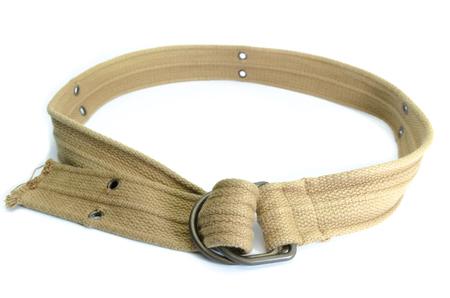 fabric strap belt isolated on white background photo