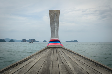 A head of local boat in Thailand