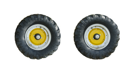 The tractor wheels are design for all purpose.