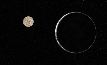 all purpose: The planet and moon are design for all purpose. Stock Photo