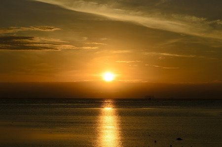 The moring sunrise is in phuket province, Thailand