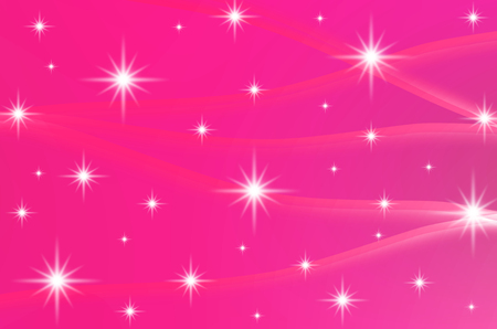 The pink color with stars are design for abstract, background and others. Stock Photo