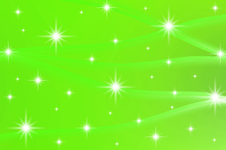 smooth background: The green color with stars are design for abstract, background and others.