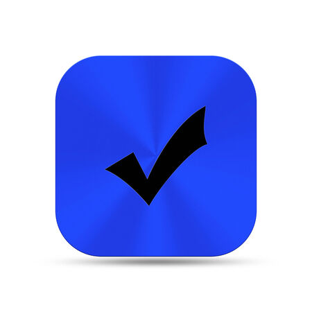 The blue button icon is create for web design and others. Stock Photo