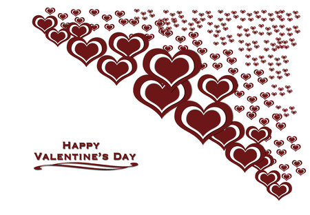 stylish couple: The hearts are design for valentine�s day and others. Stock Photo