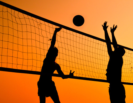 volleyball: A beach volleyball is a popular sport in Thailand. Stock Photo