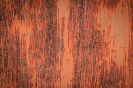 worn structure red: The rusty of metal surface background is design for all purpose. Stock Photo