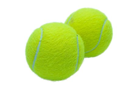 tennis ball: A tennis ball is on white background.