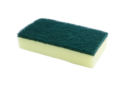 A sponge is on the white background.