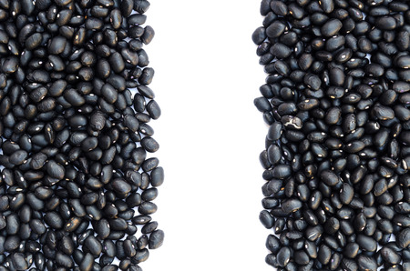 turtle bean: The black beans are setting for background. Stock Photo