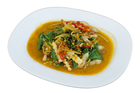 The tradition of thai food in restaurant.