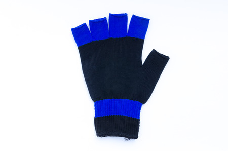 A cotton glove is on white background. Stock Photo
