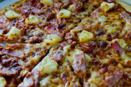pizza closeup Stock Photo