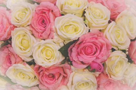 flower wedding with vintage tone Stock Photo