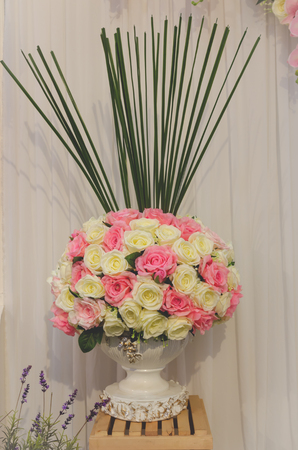 rose flower bunch decoration for wedding ceremony Stock Photo