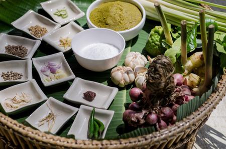 thai herbs ingredient cussine Stock Photo