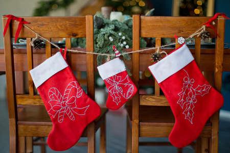family Christmas socks