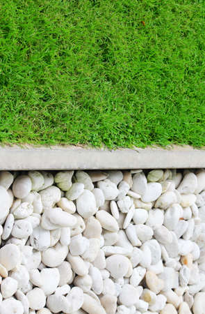 green grass and stone photo